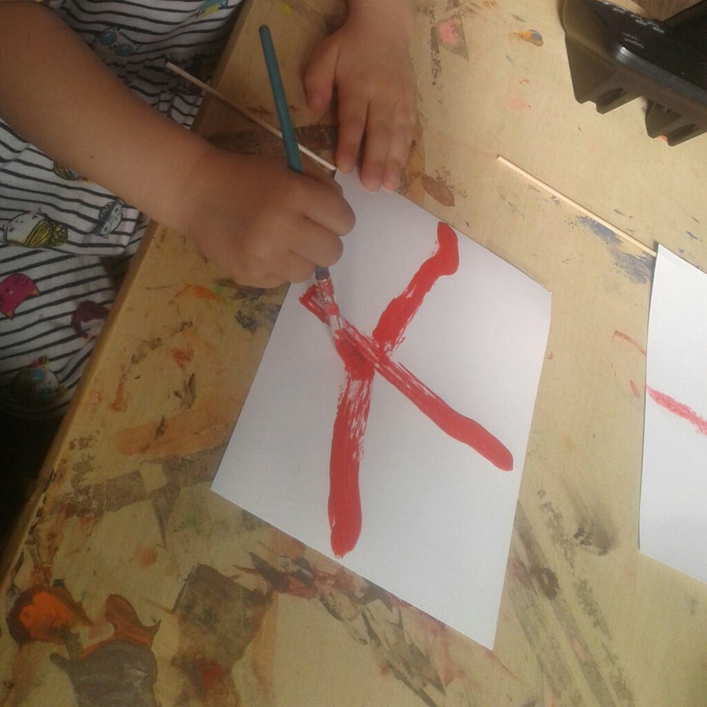 England flag being painted