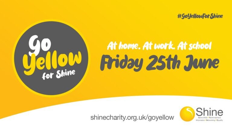 go yellow for shine on Friday 25th June