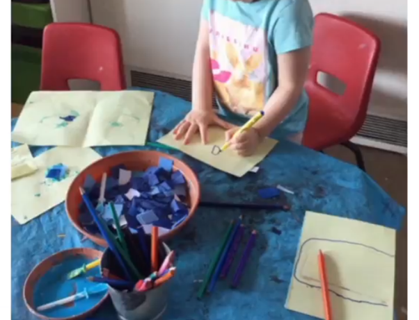 Painting and colouring at Upton Meadows