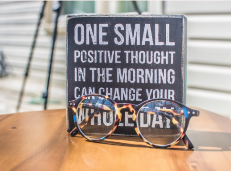"""""""one small positive thought in the morning can change your whole day"""""""