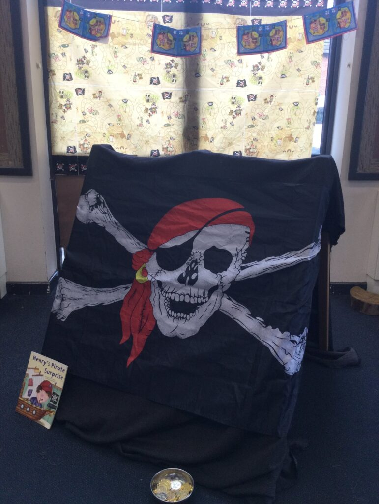 Pirate flag for a learning opportunity at Upton Meadows