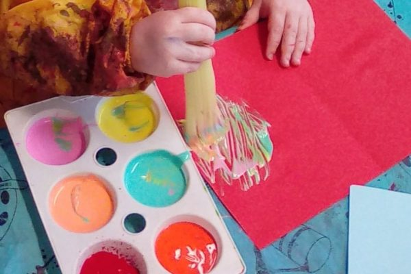 PRDN Toddlers celary painting