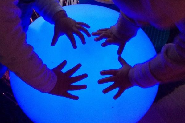 children at Swanbourne in the sensory area